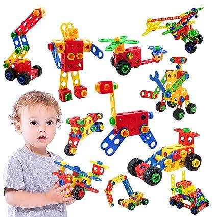 11f12ff7497 instecho STEM Toys Kit Original 150 Piece Educational Construction  Engineering Building Blocks Set for 3