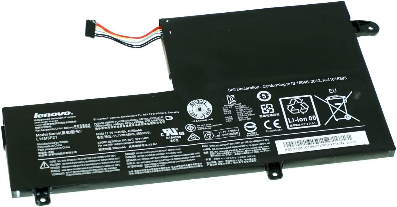 Battery for Lenovo ThinkPad Edge 2-1580 Flex 3-1580 45Whr L14M3P21 New Genuine