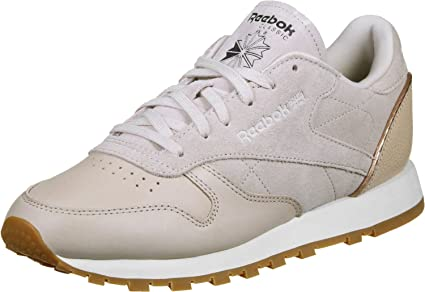 c4facda3f52 Image Unavailable. Image not available for. Color  Reebok Women s CL LTHR Golden  Neutrals