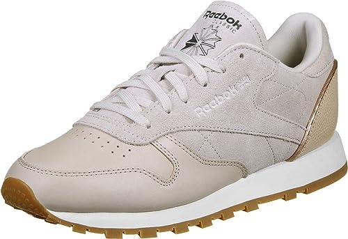 b76a6d919a5 Reebok CL Leather Golden Neutrals W Calzado  Amazon.es  Zapatos y  complementos