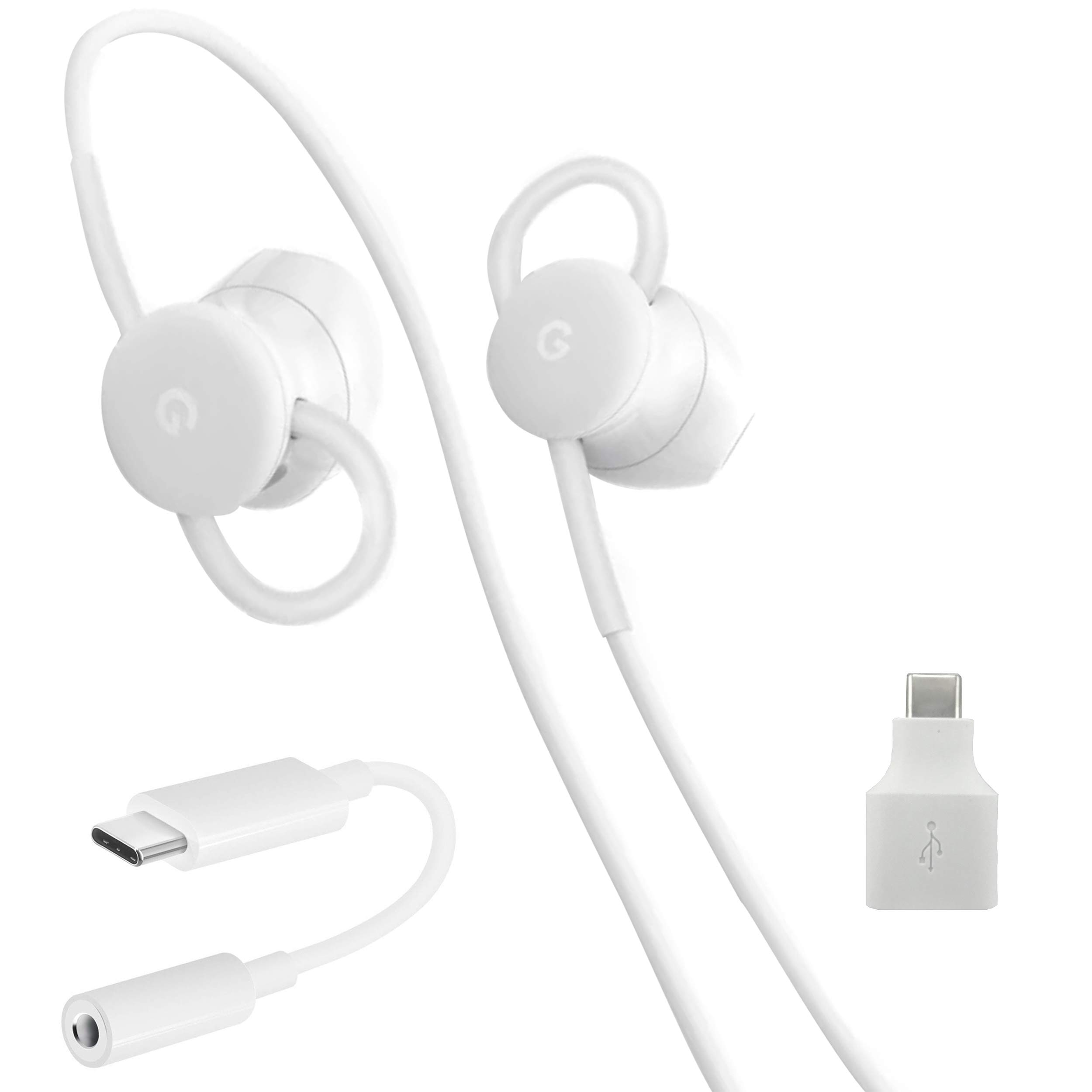 USB-C Earbuds, USB-C to 3.5mm Adapter, USB-C to USB 3.0 Adapter, for Google Pixel Devices - Accessory Combo Kit by Phihong Technology co. (Image #6)