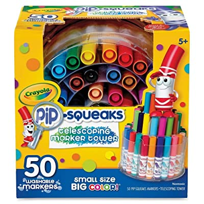 Crayola 588750 Pip-Squeaks Telescoping Marker Tower, Assorted Colors, 50/Set : Office Products