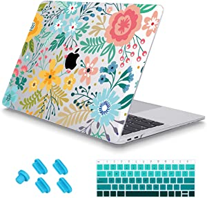 May Chen MacBook Air 13 Inch Case 2018 2019 2020 Release A1932 A2179,Beautiful Colorful Flowers Keyboard Cover Crystal Clear Hard Shell Only Compatible for MacBook Air 13 Retina Dispaly & Touch ID