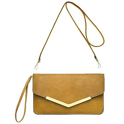 4e401651eb CRAZYCHIC - Grand Portefeuille Long Style Cuir PU - Pochette Soirée Enveloppe  Femme - Mini Sac