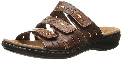 Clarks Women's Leisa Broach Sandals, Brown Multi, ...