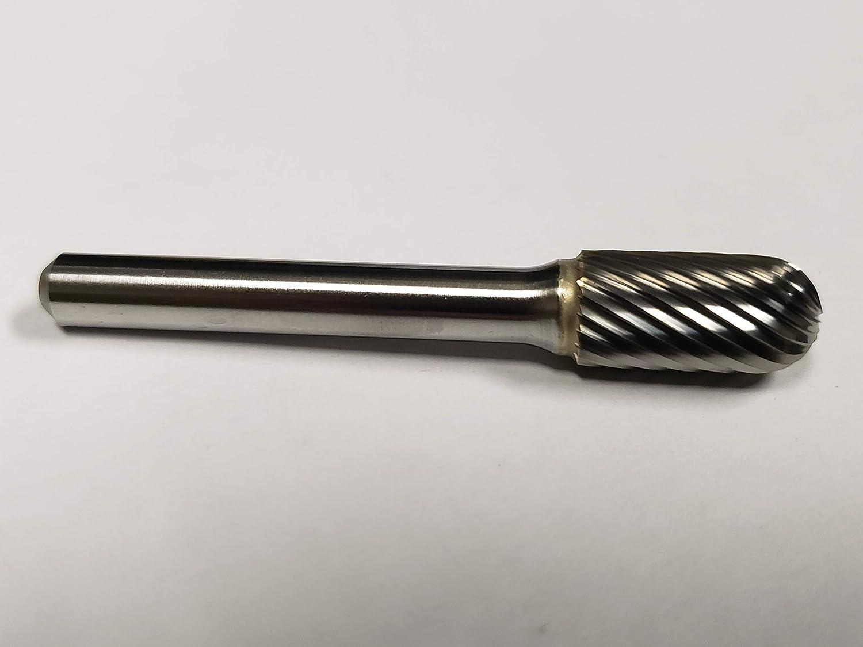 SC-3D Cylindrical Radius End Tungsten Carbide Burr Double Cut