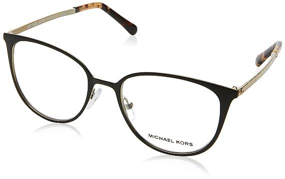 3b3a78ec81a Eyeglasses Michael Kors MK 3017 1187 MATTE BLACK GOLD-TONE at Amazon ...