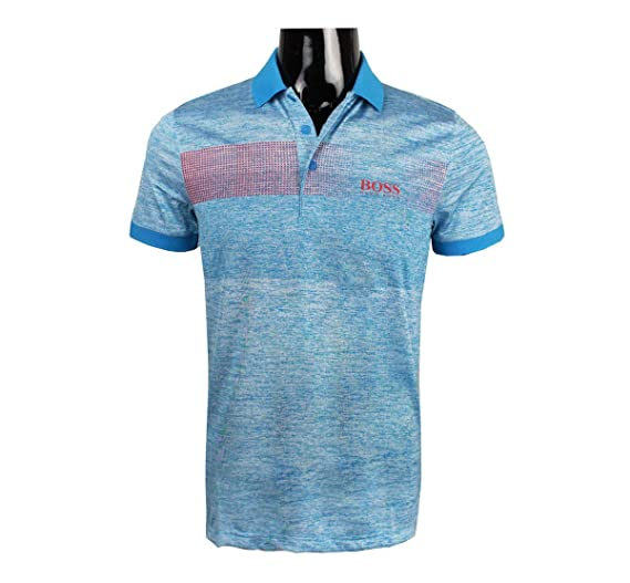2872d32a8 Hugo Boss Mens Polo Golf Shirt Paddy Pro 2 Open Blue 50379281 (Small)