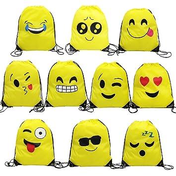 Amazon.com: magift Emoji bolsa de cordón, sorpresa favorito ...