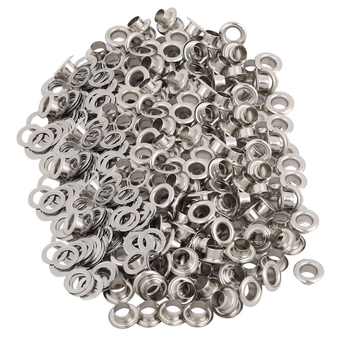 lona tono Plata 500 Piezas Ojales de cobre 4,5mm para ropa cuero