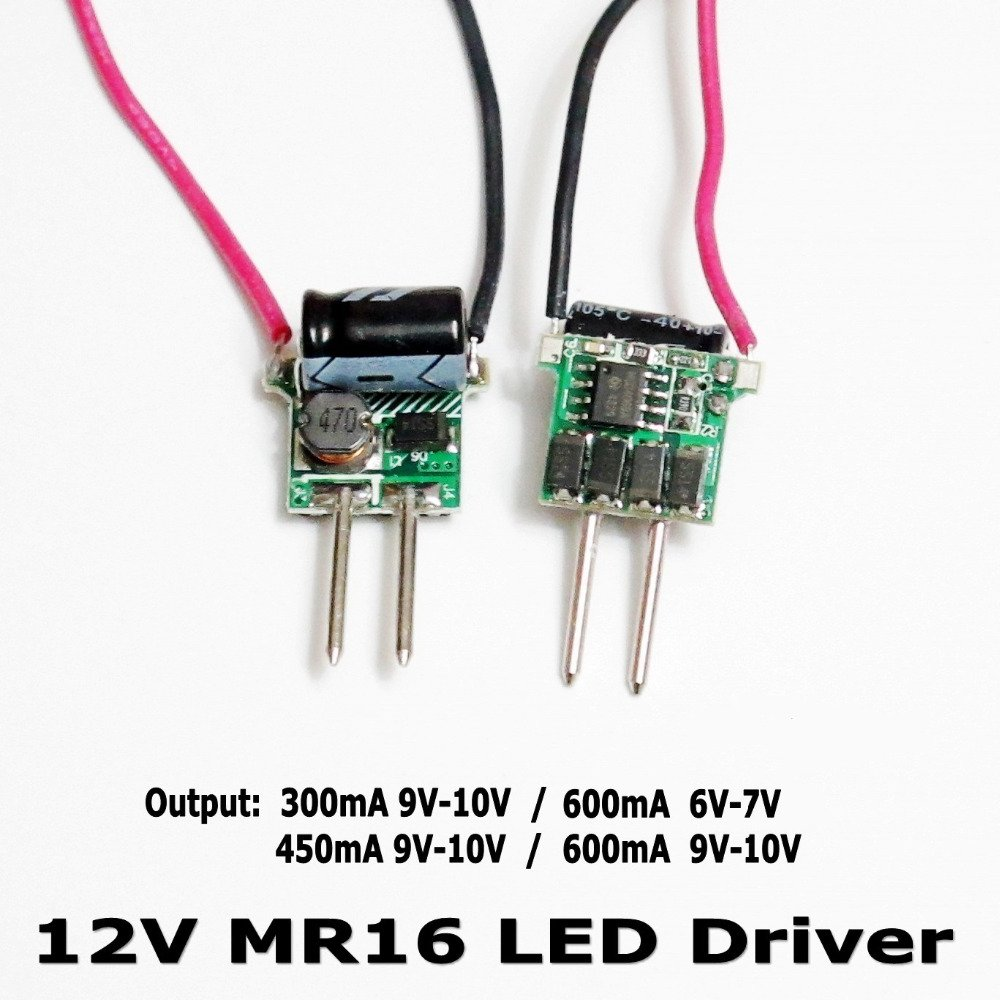 12V 1-3x1W DC LED Power Supply Driver MR16 Constant Current 300mA