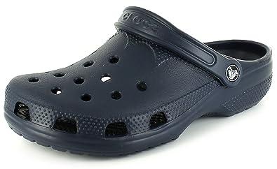 e2c1c7350 New Unisex Navy Crocs Sandals With Massage-Pod Footbed