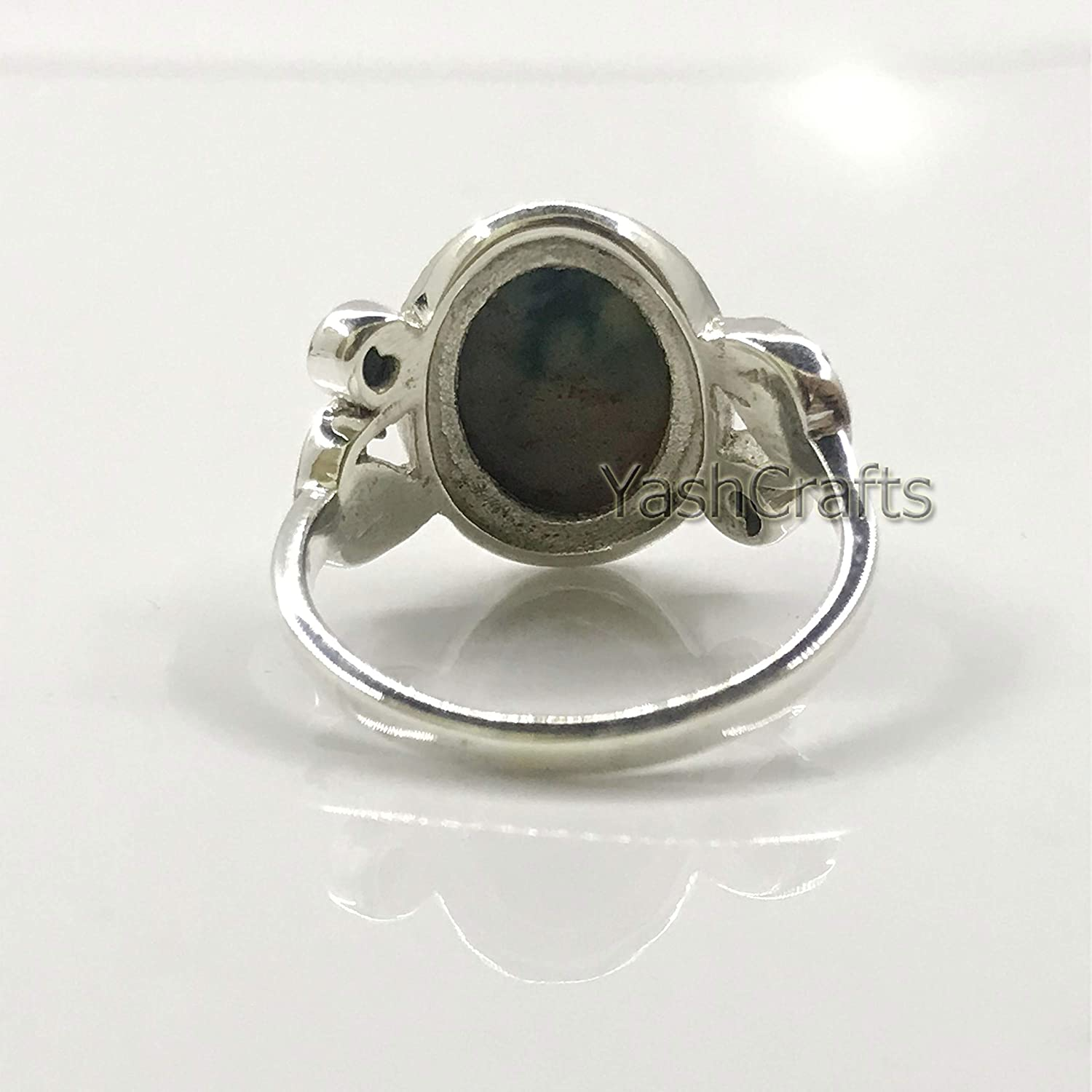 Silver Ring Genuine Gemstone Womens Ring Gift For Her 92.5 Sterling Silver Blood Stone Ring Valentine Day Gift Blood Stone Jewelry Gift For Mom Wife Sister Natural Blood Stone Womens Ring