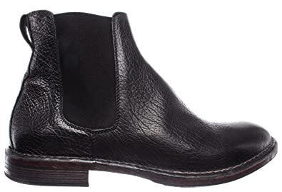 b0219dfebb96 MOMA Herren Stiefel Boot Schuhe 66705-R1 Pelle Leder Schwarz Vintage Made  Italy