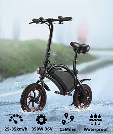 Amazon.com: Folding Electric Bicycle, 350W 36V Lightweight E ...