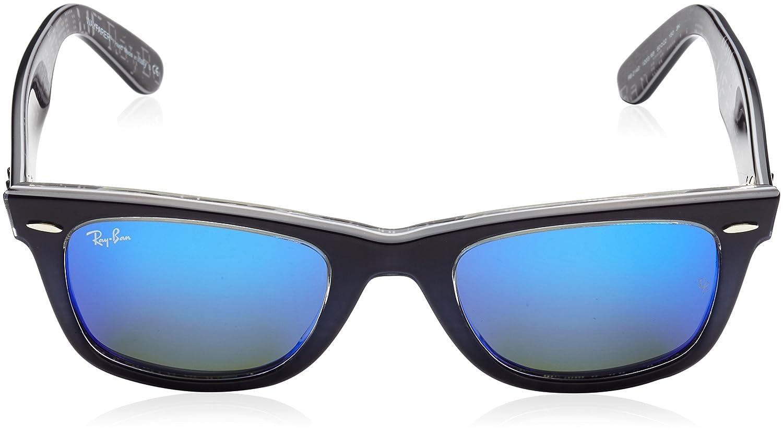Ray-Ban Hombre Wayfarer Acetato RB2140, Azul Ray-Ban Wayfarer Gafas de Sol a2ca6f7dec