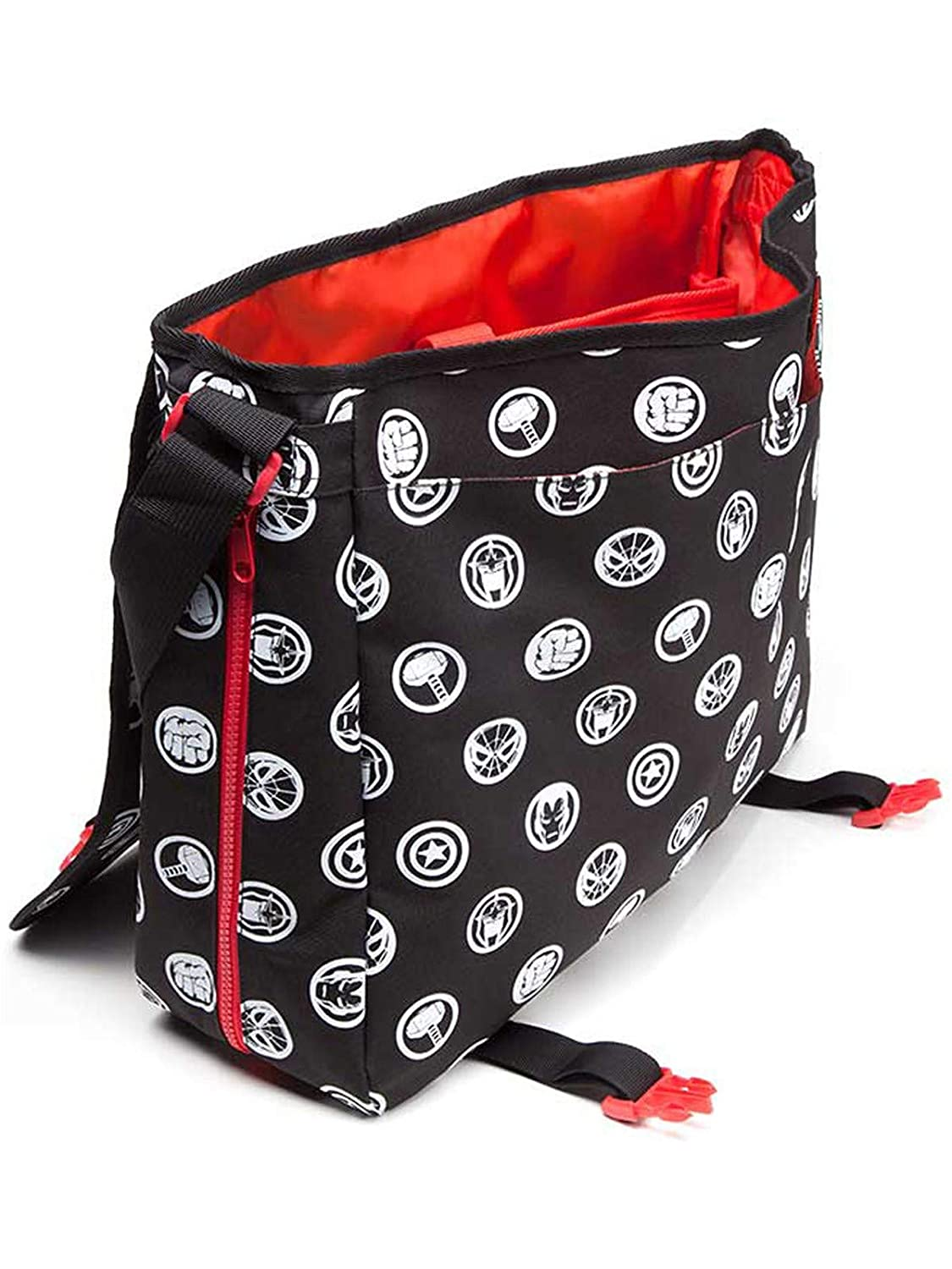 Rojo 46 cm Mb110902Mar Messenger Bag Marvel COMICS All-Over Hero Crests Negro Unisex