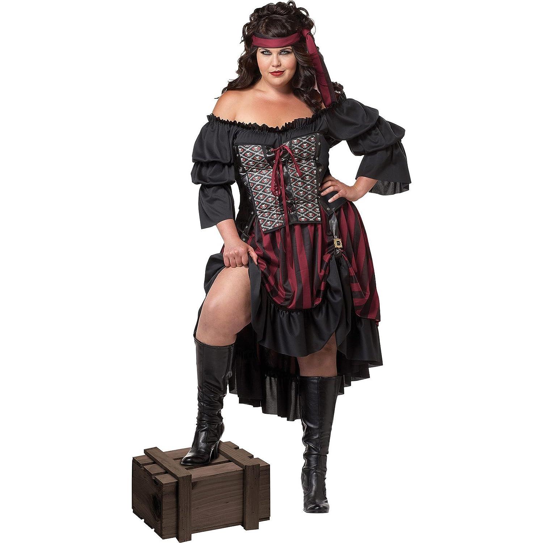 California Costumes Pirate Wench Corset Dress Costume 3XL