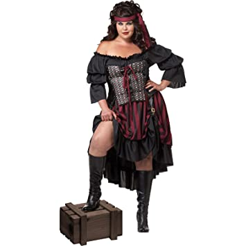 Femme Femme Pirate Taille Grande Taille Pirate Costume Grande Pirate Costume Femme Costume Grande xoBdCeQrW