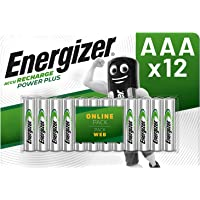 Energizer Rechargeable Batteries AAA, Recharge Power Plus, Pack of 12