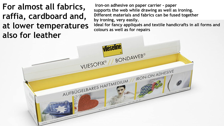3 Meter - Vlieseline Bondaweb Iron On Fusible Interfacing Web Adhesive Paper Appliques Arts Crafts Patchwork Width 45cm Thimblesfabrics