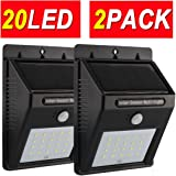 Solar Lights,Motion Sensor Light,Sogrand Outdoor 20LED,Security Light,for Garage Path Wall Walkway Patio Deck Shed Pack of 2