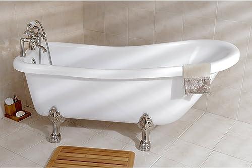 Kingston Brass Aqua Eden 67″ Slipper Acrylic Tub