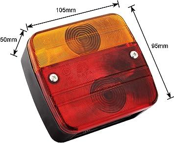 cavo per rimorchio ECE per approvato stradale. adluminis luce posteriore Set con base magnetica e Catadiottro dopo g/ültigen regolamenti 7/poli 7/m