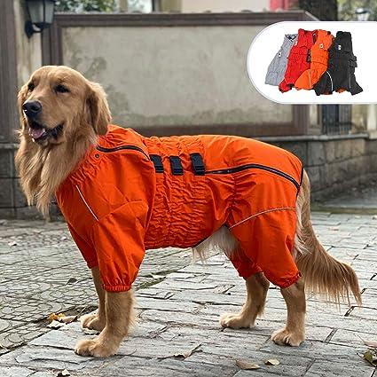 Dogs Waterproof Jacket Lightweight Waterproof Jacket Reflective Safety Dog Raincoat Windproof Snow-Proof Dog Vest for Small Medium Large Dogs Black XXXL
