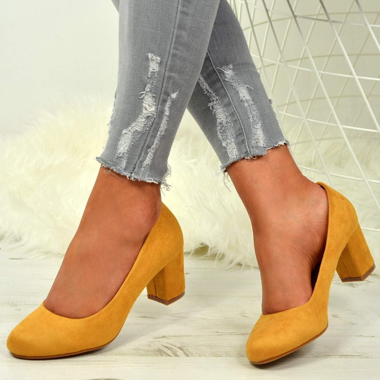 CucuFashion zapatos de tac/ón de bloque Zapatos de corte para mujer zapatos de mujer talla 3-8 zapatos de corte c/ómodos