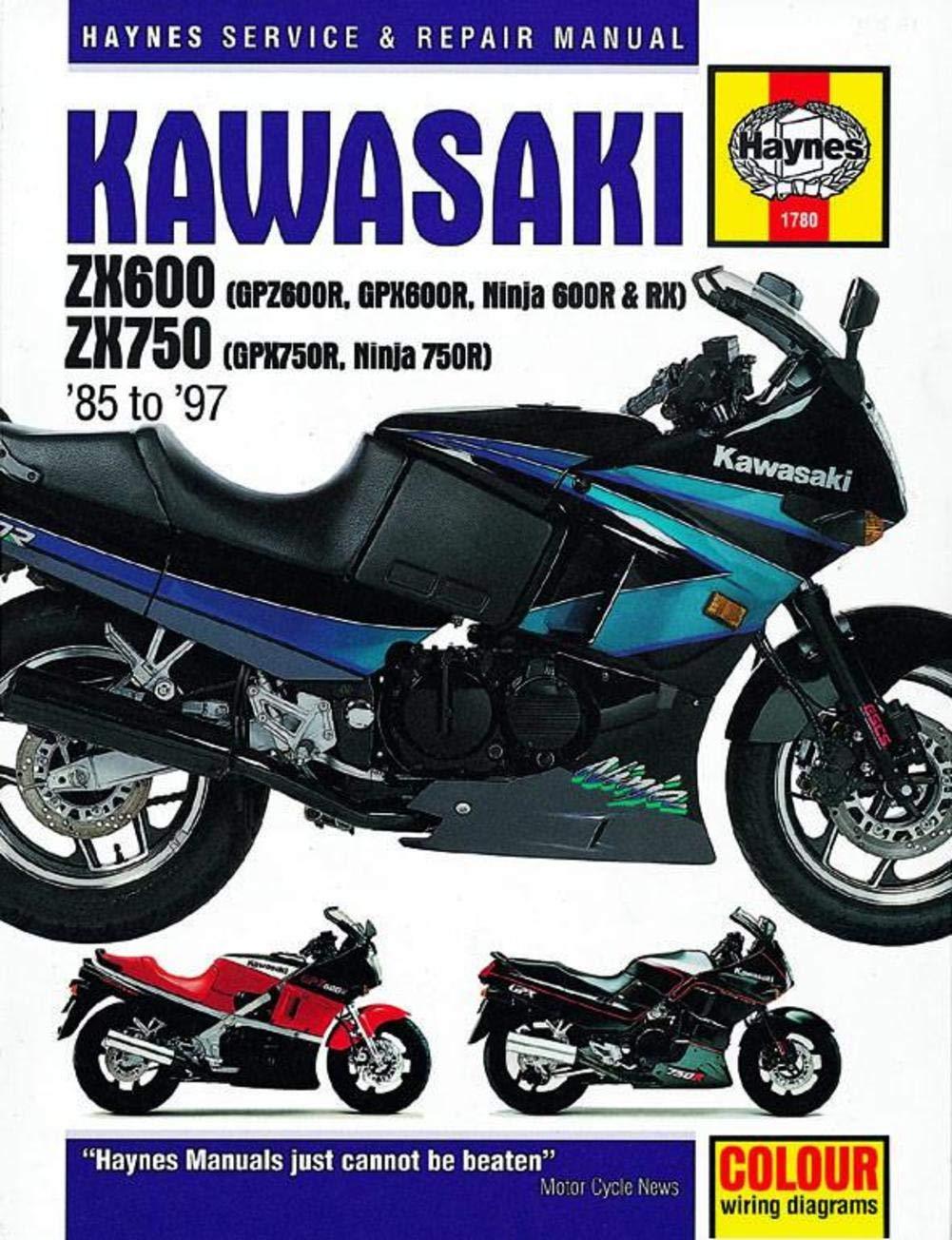 91 94 Kawasaki Zx7r Haynes Repair Manual Automotive Zx7 Wiring Diagram