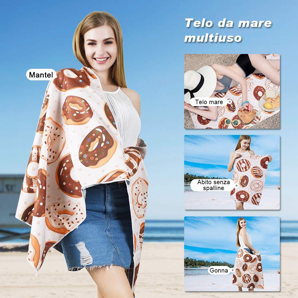 VBIGER Telo Mare Asciugamani Mare Abbigliamento da Mare Telo Mare Donna Bikini Coprire (Burger)