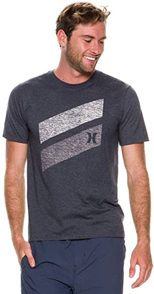 Hurley Mens T-shirt S Heather Obsidian