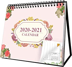 2020-2021 Desk Calendar Stand Up Desk Calendar 2020-2021 8'' x 6'' Desk Calendar Can Be Used Throughout 2021 Small Monthly Pages Easel Calendar