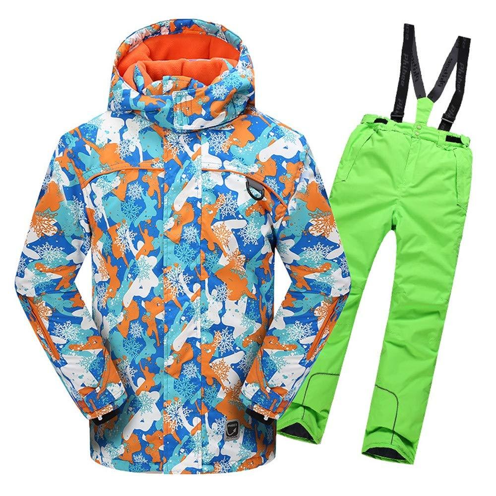 Jxth Giacca Giacca Giacca Sportiva per Bambini da Esterno Giacca da Sci con Cappuccio da Sci con Tuta da Snowsuit, Impermeabile e Impermeabile, con 2 Pantaloni per Lo Sci, Snowboard Camping UnisexB07KRZ79ZJ116 verde | Nuovi prodotti nel 2019  | Design professionale   7b71b9