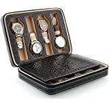 Amzdeal Watch Storage Display Box Leather Case Faux Storage Case