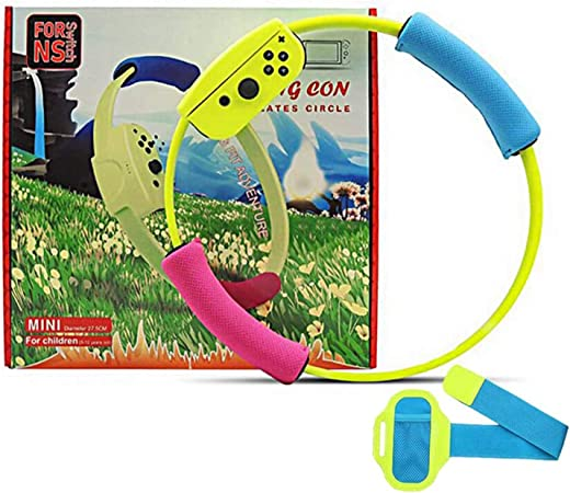 Correa para Pierna y Agarre Ring-con para Ring Fit Adventure Nintendo Switch,Correa de muñeca elástica Ajustable Volante Antideslizante Accesorios Kits para Switch Joy-con Controller Game: Amazon.es: Hogar
