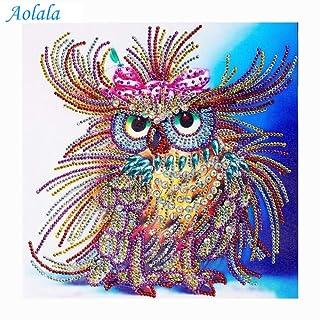 Special Shaped Diamond Painting Owl Handicraft Needlework 3D Drill Mosaic DIY Diamond Embroidery Animal,50x70cm