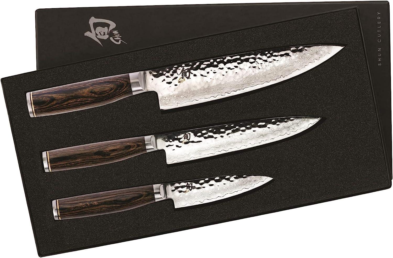 Shun Premier Kitchen Knife Starter Set, 3 Piece, Paring,  Utility,