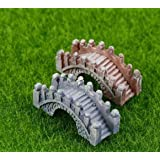 P S Retail Stone Bridge Mini Resin Crafts Fairy Garden Miniatures ( 4 pcs Set)