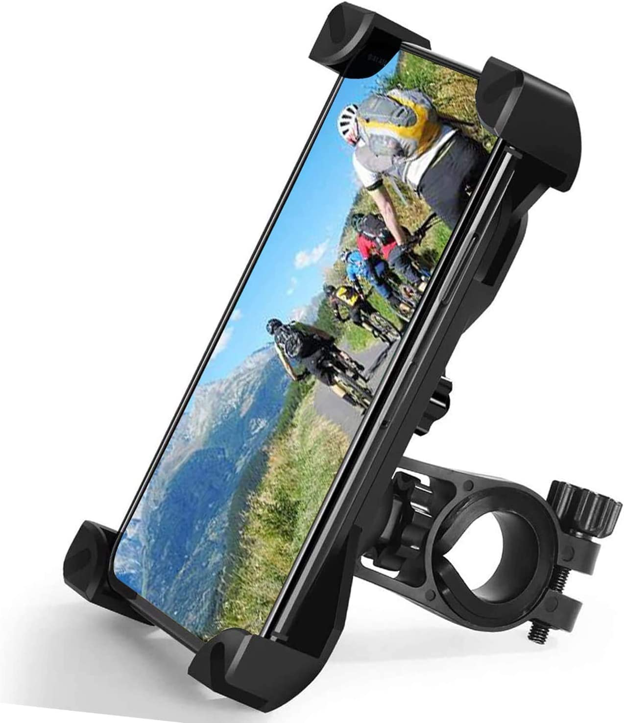 Zommuei Soporte Movil Bici, Soporte Movil Moto Universal 360°Rotación Anti Vibración Porta Telefono Motocicleta Montaña Soporte para iPhone Samsung LG HTC Motorola Xiaomi GPS y Otro 4.5-7.0