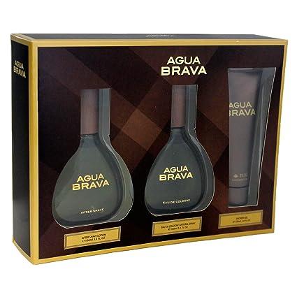 Puig Agua Brava Agua de Colonia + Gel + Loción Corporal - 1 Pack
