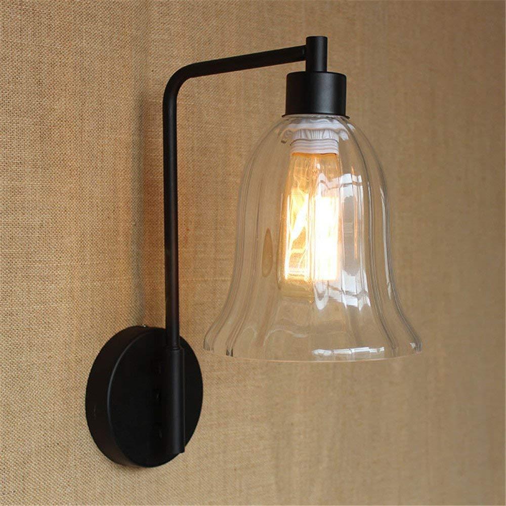 Eeayyygch Wandlampen kreative Wandlampe Schlafzimmer Nachttischlampe einfach Glas Individualität Einzelkopf Wohnzimmer Korridor Hotel Wandlampe Restaurant Hintergrund Wandlampe (Farbe   -, Größe   -)