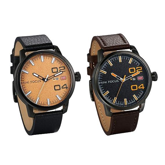 aaec57cb14a9 Reloj de Pulsera para Hombre de Piel auténtica