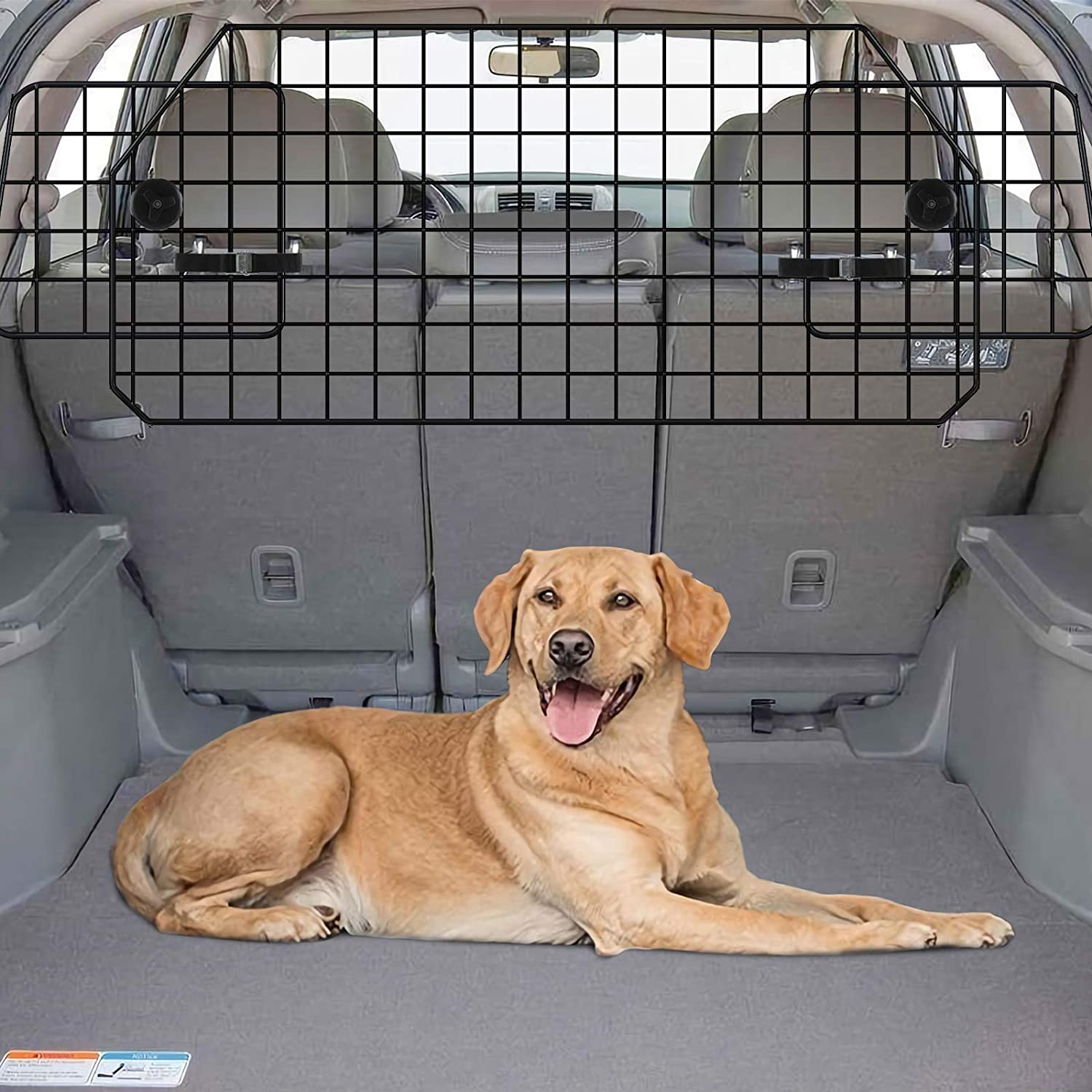 Gtongoko Adjustable Dog Car Barriers for SUV, Vehicles, Cars, Heavy Wire Mesh Universal Vehicle Separator, Pet Compartment Door in Cargo Area of Vehicle Trunk, Black : Pet Supplies