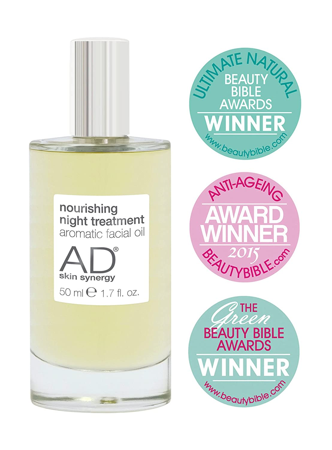 AD skin synergy - Face Oil - Award Winning Natural and Organic Nourishing Night Treatment Facial Oil - 50ml