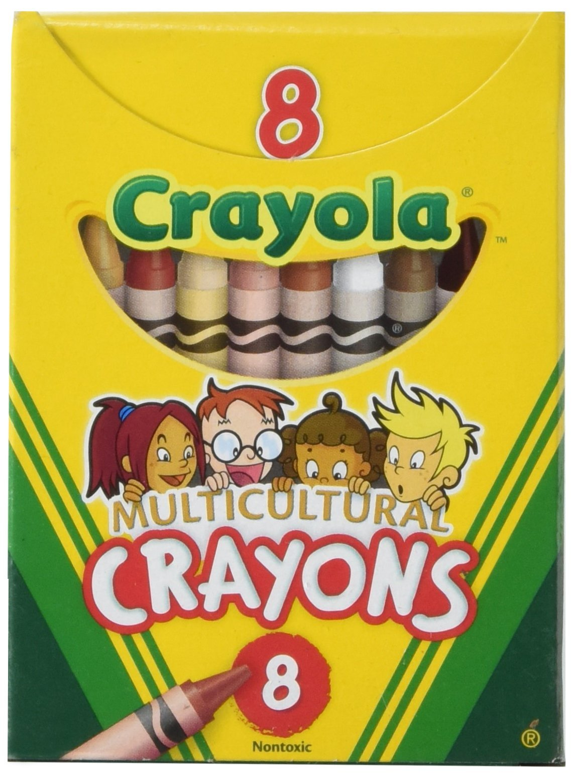 Binney & Smith Crayola(R) Multicultural Crayons, Assorted Specialty Colors, Box of 8 (52-008W)