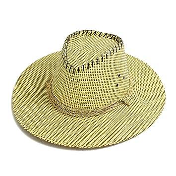 JXXDQ Sombrero de Paja de Vaquero de Verano de los Hombres al Aire Libre  Que Sube 46d0afa9a40
