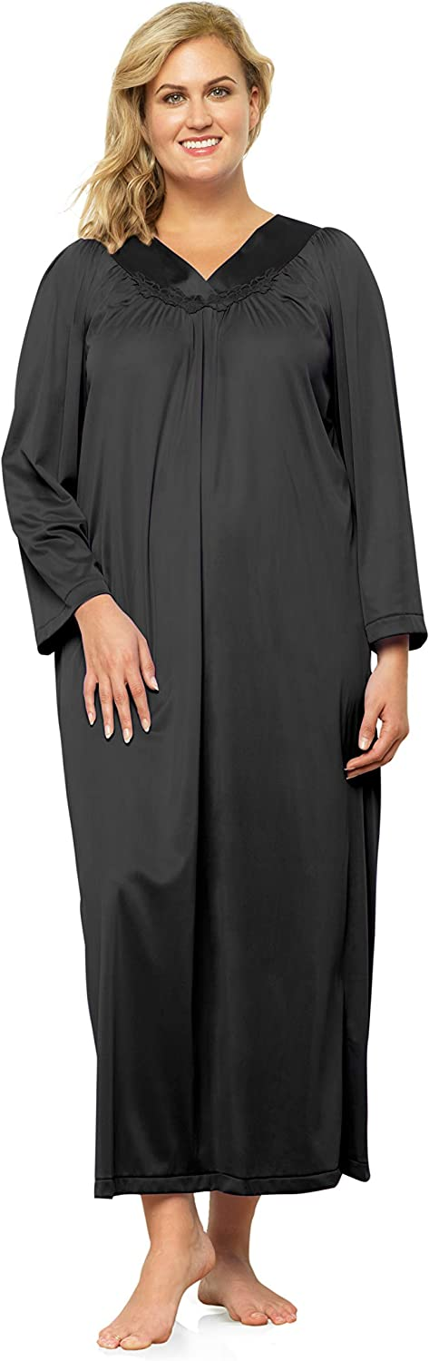 EXQUISITE FORM Womens Womens Long Sleeve Ankle Length Gown 50807 Nightgown
