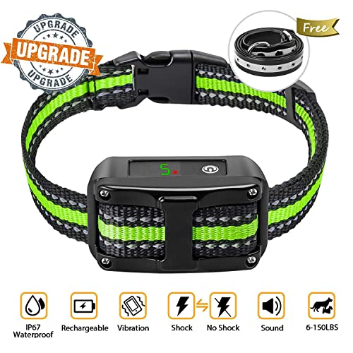 [Newest-2019]Dog-Bark-Collar-5-Adjustable-Sensitivity-and-Intensity-Levels-Dual-Anti-Barking